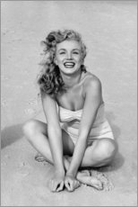 Canvas print  Marilyn Monroe in a bathing suit - Celebrity Collection