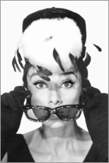 Foam board print  Breakfast at Tiffany's, Audrey Hepburn - Celebrity Collection