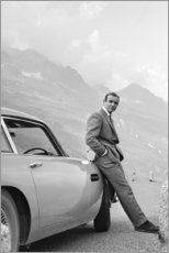 Aluminium print  Sean Connery as James Bond - Celebrity Collection