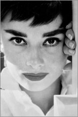 Premium poster Audrey Hepburn close-up