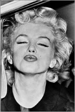 Canvas print  Marilyn Monroe's kiss - Celebrity Collection