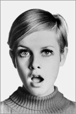 Premium poster  Twiggy astonished - Celebrity Collection