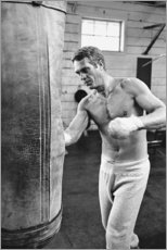 Premium poster  Steve McQueen boxing - Celebrity Collection