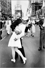 Acrylic glass  V-Day in Times Square (The Kiss) - Celebrity Collection