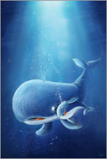 Canvas print  Whale with her baby - Stefan Lohr