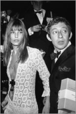 Foam board print  Jane Birkin and Serge Gainsbourg - Celebrity Collection