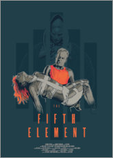 Aluminium print  The Fifth Element - Fourteenlab