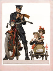 Canvas print  Policeman and School Children - Joseph Christian Leyendecker