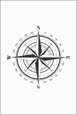 Canvas print  Nautic Compass