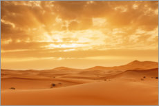 Premium poster  Sunset in the Sahara, Morocco - Markus Lange