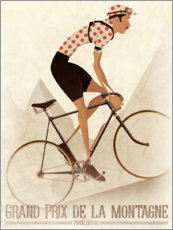 Canvas print  Vintage cyclist mountain classification - Wyatt9