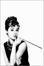 Canvas print  Audrey smoking - Celebrity Collection