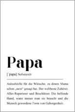 Premium poster Papa Definition (German)