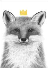 Wall sticker  Royal fox - Victoria Borges
