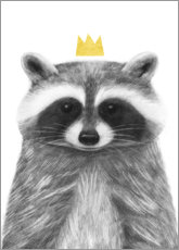Foam board print  Royal raccoon - Victoria Borges