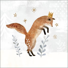 Foam board print  King Fox in the far north - Victoria Borges