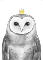 Acrylic glass  Royal owl - Victoria Borges