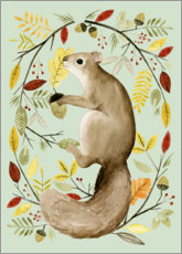 Canvas print  Squirrel in the autumn - Grace Popp
