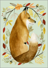 Foam board print  Fox in the fall - Grace Popp