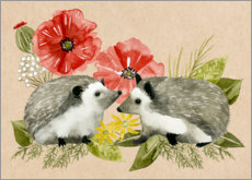 Gallery print  Happy hedgehogs - Grace Popp