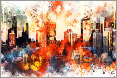 Wall sticker  Colors of Manhattan - Philippe HUGONNARD