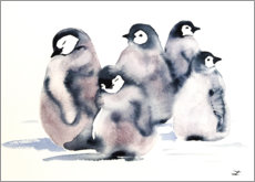 Canvas print  Penguin School - Zaira Dzhaubaeva