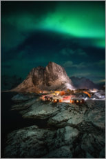 Premium poster  Northern lights in Norway - Dennis Fischer