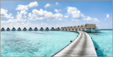 Canvas print  Luxury resort in the Maldives - Jan Christopher Becke