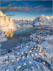 Premium poster Lofoten at sunrise in winter