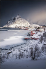 Premium poster Fishing village in the Lofoten