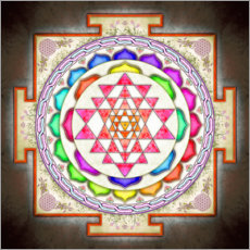Wall sticker  Sri Yantra Floral Design - Dirk Czarnota