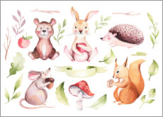Canvas print  Friends of the forest - Kidz Collection