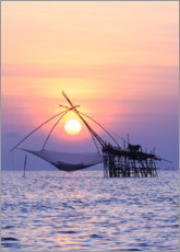 Acrylic print  Sunset on the Thai coast