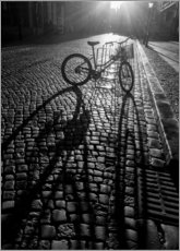 Premium poster  Bicycle with long shadow