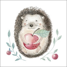 Premium poster  Hedgehog with apple - Kidz Collection