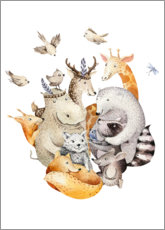 Gallery Print  Animal friends