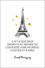 Acrylic print  There are only two places in the world (French)