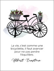 Canvas print  Life is like cycling (French)