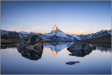 Premium poster  Sunrise at the Matterhorn - Jan Christopher Becke