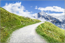 Acrylic print  Path along the Swiss Alps in Grindelwald - Jan Christopher Becke