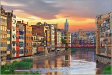 Premium poster Colorful Girona Skyline