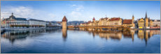 Acrylic print  Panorama of Lucerne - Jan Christopher Becke