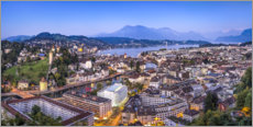 Aluminium print  Lucerne in the evening - Jan Christopher Becke