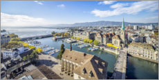 Acrylic print  Aerial view Zurich - Jan Christopher Becke