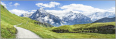 Premium poster  Swiss Alps panorama, Grindelwald - Jan Christopher Becke