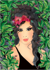 Canvas print  Amy Winehouse - Ella Tjader
