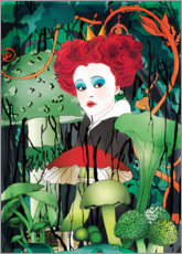 Premium poster  Red Queen Alice in Wonderland - Ella Tjader