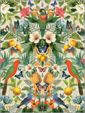 Canvas print  Tropical parrots