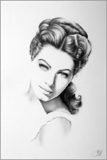 Wood print  Ava Gardner - Ileana Hunter
