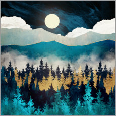 Acrylic print  Evening mist landscape - SpaceFrog Designs